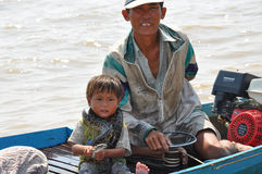 Cambodian  fishing Royalty Free Stock Photography