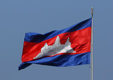 Cambodian Flag stock images
