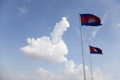 Cambodian flags Stock Photos