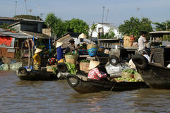Vietnam Floating Market Stock Photography