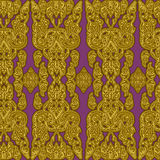 Cambodian floral pattern Stock Photo