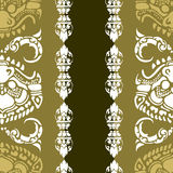 Cambodian floral pattern Royalty Free Stock Images