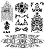 Cambodian floral pattern Stock Image