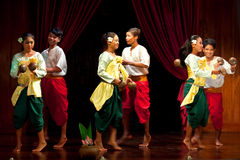 Cambodian Folk Dance Stock Images