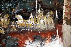 Cambodian fresco Royalty Free Stock Photos