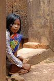 Cambodian Girl, Angor Wat royalty free stock photos