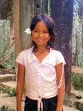 Cambodian Girl. Young Cambodian girl with beautiful smile taken at Angkor Wat Royalty Free Stock Image