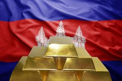 Cambodian gold reserves Stock Image