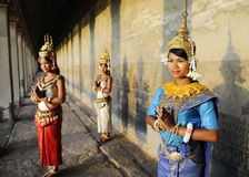 Cambodian Greeting Style Culture Traditional Concept Royalty Free Stock Image