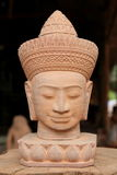 Cambodian Head Statue Royalty Free Stock Photography