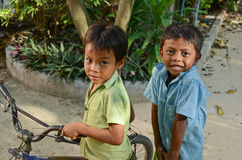 Cambodian kids Stock Photo