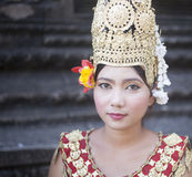 Cambodian lady dancer Cambodia Siam reap Royalty Free Stock Photos