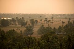 Cambodian landscape Royalty Free Stock Photography