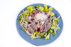 Cambodian Lapneu beef salad Stock Photography