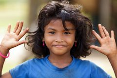 Cambodian little girl portrait Stock Photography