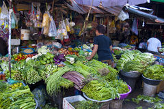 Cambodian market place in a town Royalty Free Stock Image
