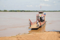 Cambodian Mekong Ferry Stock Image