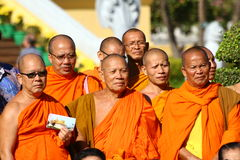 Cambodian monks Royalty Free Stock Image