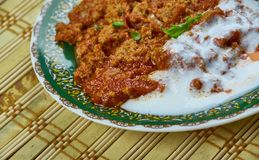 Cambodian Nataing  pork. Nataing - Cambodian style red pork,creamy ground pork dish cooked in coconut milk Stock Photography