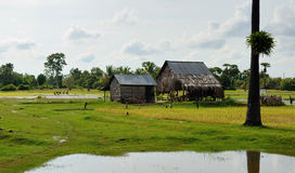 Cambodian peasant house Stock Image