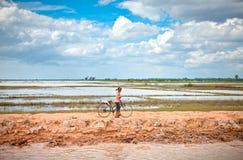 Cambodian people live beside Tonle Sap Lake, Cambodia . Stock Photo