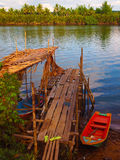 Cambodian river Stock Image