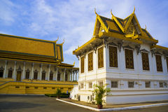 Cambodian Royal Palace Buildings Royalty Free Stock Photography