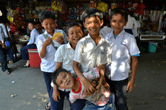 Cambodian School Children Royalty Free Stock Image