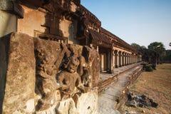 A Cambodian sculpture. At Angkor Wat, Cambodia Stock Photography