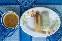 Cambodian spring rolls Royalty Free Stock Photos