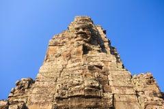Cambodian Statues. At Bayon temple Stock Photos