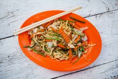 Cambodian stir fried noodles Royalty Free Stock Photos
