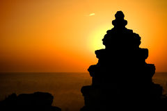 Cambodian sunset Royalty Free Stock Images