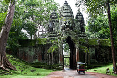 Cambodian temple. Ancient Cambodian temple in the Jungle royalty free stock images