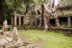 Cambodian temple. Ancient Cambodian temple in the Jungle stock photo