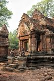Cambodian temple Banteay Srei Royalty Free Stock Image