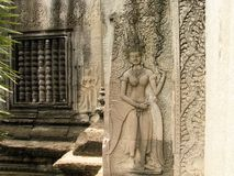 Cambodian temple. Impetuous and unstoppable Cambodian temple Royalty Free Stock Photo