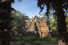 Cambodian temple in the jungle Stock Photography