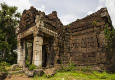 Cambodian temple near Phnom Penh with architecture similar to angkor wat siem reap. Cambodia Stock Photography