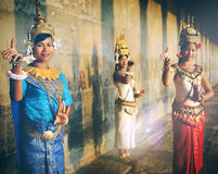 Cambodian Traditional Culture Apsara Female Tanquil Concept Royalty Free Stock Photography