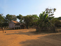 Cambodian traditional houses Stock Photo