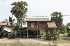Cambodian traditional wooden houses. Battambang, Cambodia Royalty Free Stock Photo