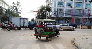 Cambodian tuktuk driver Stock Photos