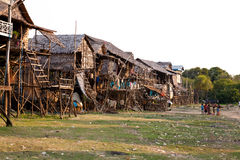 Cambodian village Royalty Free Stock Photo