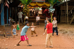 Cambodian Village Life Royalty Free Stock Photo