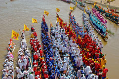 Cambodian water boat race Royalty Free Stock Photography