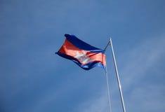 Cambodja flagga Arkivfoto