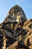 Cambodja - närbildsikt av den Angkor Wat templet Arkivbilder