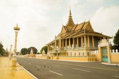 Cambodja Royal Palace, månskenpaviljong Royaltyfri Foto