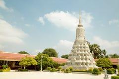 Cambodja Royal Palace, stupa Arkivfoto